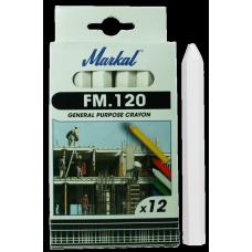 Универсальный промышленный маркер на основе воска Markal FM.120 Белый 44010100