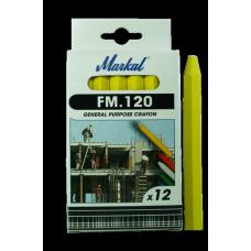 Универсальный промышленный маркер на основе воска Markal FM.120 Желтый 44010200