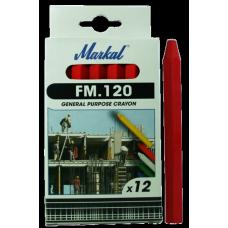 Универсальный промышленный маркер на основе воска Markal FM.120,Красный 44010300