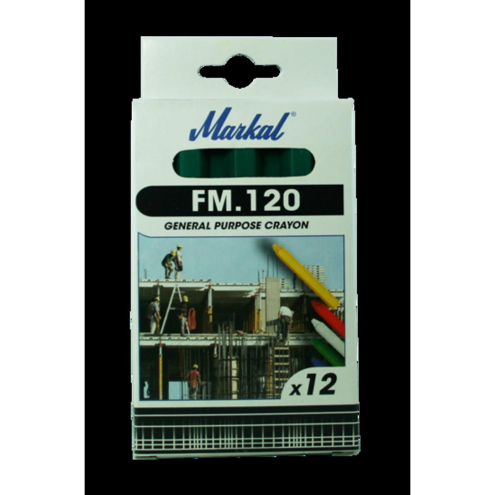 Универсальный промышленный маркер на основе воска Markal FM.120  Зелёный 44010500