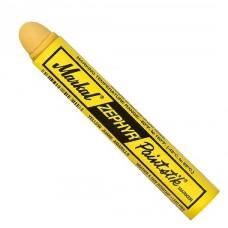 Износостойкий маркер на основе твердой краски,смываемый водой Markal Zephyr Paintstik,Желтый 51321