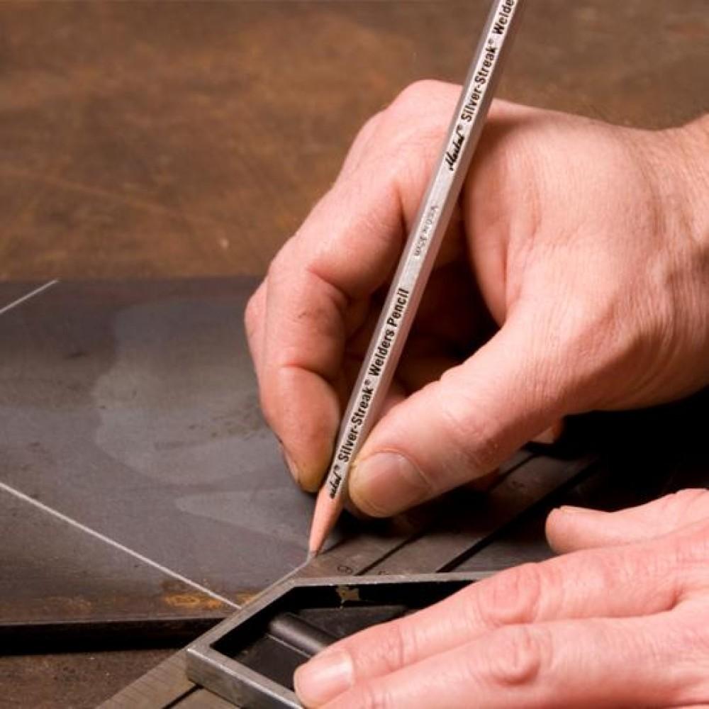 Карандаш сварщика Markal Silver-streak Welder Pencil, Серебро 96101