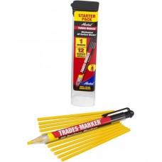 Универсальный механический маркер Markal Trades-Marker Starter Pack, Желтый 96131
