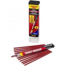 Универсальный механический маркер Markal Trades-Marker Starter Pack, Красный 96132