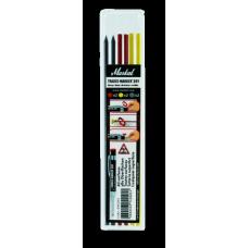 Маркер для труднодоступных глубоких поверхностей Markal Trades-Marker Dry REFILLS, 2*Черных  2*Красных ,2*Желтых 96263